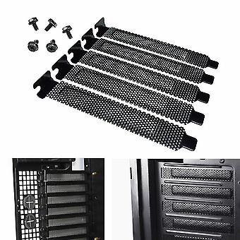 Pci Slot Cover Dust Filter Blanking Plate Hard Steel With Screws Desktop Pc