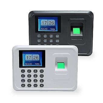 A5 2.4in Tft Biometriska fingeravtryck Punch Time Clock Office Närvaroinspelare