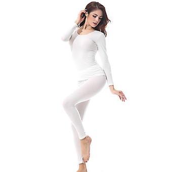 Female Autumn Thermal Long Underwears Set, Women Body Shape Wear