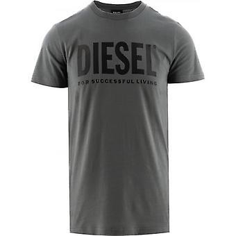 Diesel Harmaa T-Diego Logo T-paita
