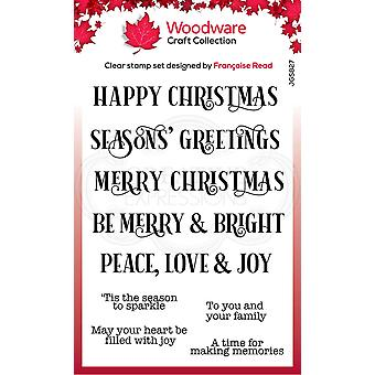 Woodware Clear Singles Christmas Sparkle 4 in x 6 in Stamp