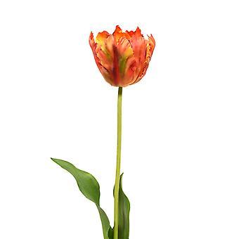 Sztuczny Jedwabisty van Gogh Tulipan 70 cm pomarańczowy