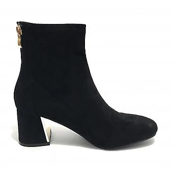 Women's Ankle Boot Gold&gold Tc 60 Black Suede Faux Leather Shoes D20gg15