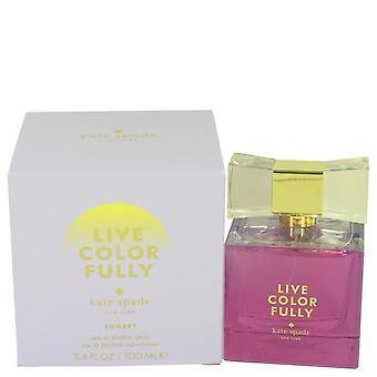 Live värikkäästi Sunset Eau De Parfum Spray Kate Spade 3,4 oz Eau De Parfum Spray