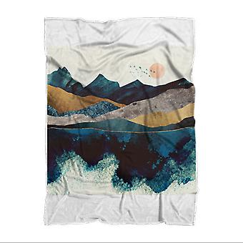Blue mountain reflection sublimation adult blanket