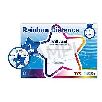 ASA Engeland Rainbow afstand zwemmen Award - 1 mijl zwemmen