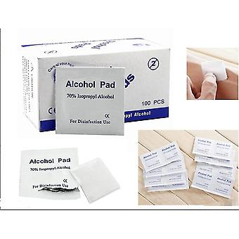 100pcs Disposable Alcohol Cotton Preparation Pad Sterile Swab Cleaning Swab