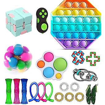 23 Pcs Sensory Fidget Toys Bundle Stress Relief With Fidget Hand Toys