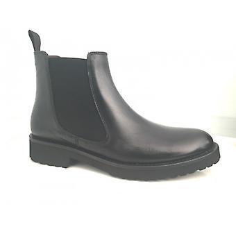 Shoes Woman Gas N. Bearded Polish Beatles Black Leather Elastic D16nb15