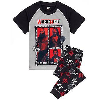 WWE pizsama fiúknak | Gyerekek Birkózni Mánia szürke piros póló nadrág PJs | Gyermek Birkózó Bajnokság Ruházat Merchandise