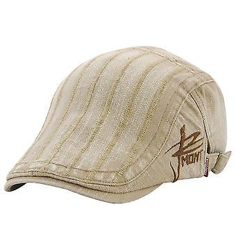 Chapeaux de chapeau pointus des femmes adultes chapeau rayé de sunshade de protection de béret