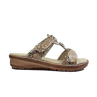Ara Hawaii 27232-89 Snake Womens Slip On Mule Sandals