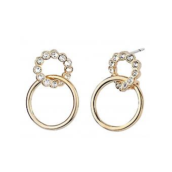 Traveller Drop Earrings Gold Plated Crystals From Swarovski - 157248 - 620