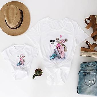 Familie look moeder en dochter kleding, baby T-shirt