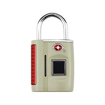 Älykäs avaimeton sormenjälki riippulukko TSA Hyväksytty Lukko Älykäs Avaimeton Sormi Kosketus Biometrinen Avaa Vedenpitävä Matkatavara laukut Matkalaukut USB Charging Silver