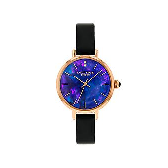 Lola Rose Lr2170 Purple Dial Leather Strap Watch For Women