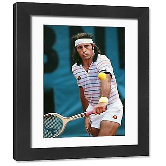 Guillermo Vilas - 1981 French Open. Framed Photo. Tennis - 1981 French Open <br>Argentina&#39;s.