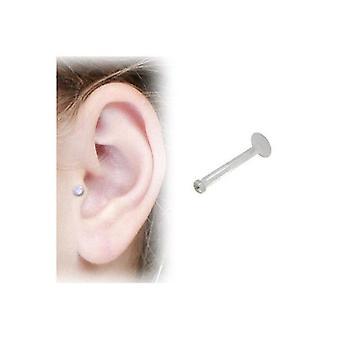 Klar bioflex labret med klar ramme sæt perle