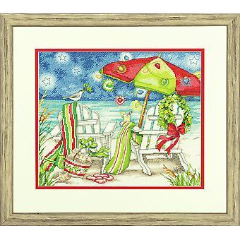Mått räknade korsstygn: Jul strandstolar
