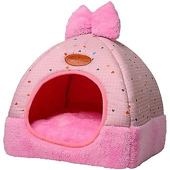 Cat Bed Cuddly Cave For Small Dogs Cozy Sleeping Place Elegant Pillow