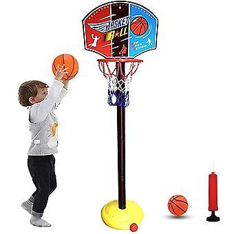 Backdrop Basket Ball Hoop Rack Educational Kids Children Toys Toy Balls Outdoor Indoor Fun Sports Stand Fabric Net Goal