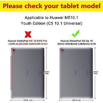 Wokex Hülle für Huawei MediaPad M5 Lite 10.1 Zoll, PU-Leder, Standfunktion und Flip Case Schutzhülle