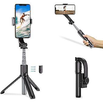 FengChun 1-Achsen-Faltbarer tragbarer Selfie-Stick mit 10m kabelloser Steuerung, Anti-Shake-Stativ,