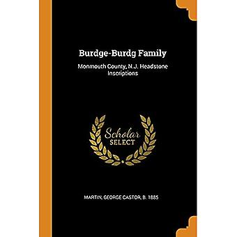 Burdge-Burdg Family: Monmouth County, N.J. Headstone Inscriptions