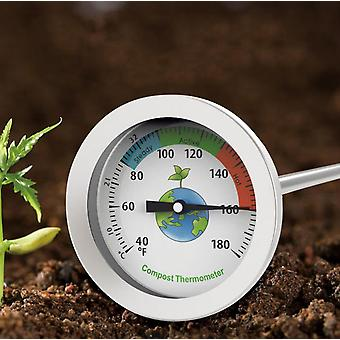 Compost Soil Thermometer Stainless Steel Probe Type Fertilizer Water Thermometer