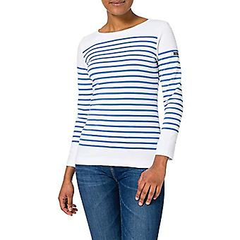 Armor Lux Marini�re ''Amiral'' T-Shirt, Blanc/Oz�ro, 44 Donna