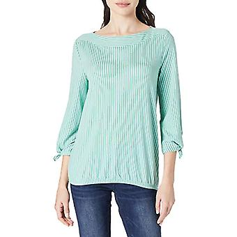 Tom Tailor 1024524 Striped T-Shirt, 26310 Green White Thin Stripe, L Woman