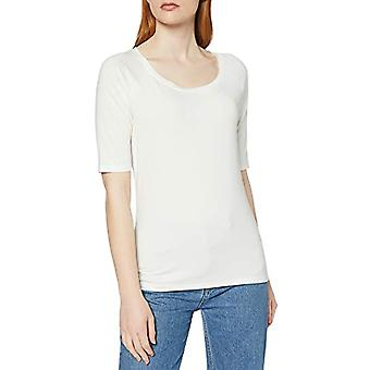 Herrlicher Valery Viscose Jersey T-Shirt, White (Chalk 132), Large Woman
