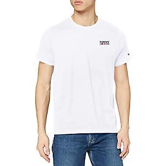 Tommy Jeans Tjm Regular Corp Logo C Neck T-Shirt, Vit, XXL Herr