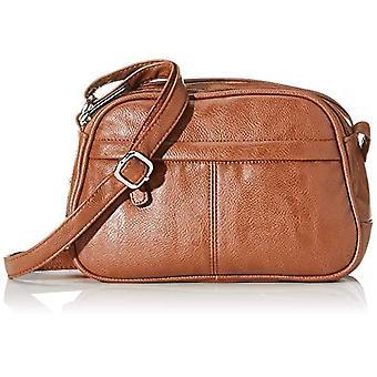 N.V. Bags N.V. BagsNv211DonnaOro Shoulder Bag (Tan) 9x18x24 Centimeters (W x H x L)