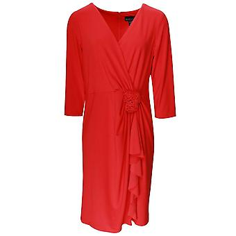 Frank Lyman trimestre trois manches Rose Frill robe