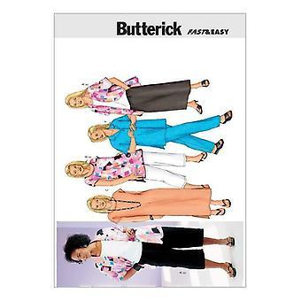 Butterick Ompelu kuvio 3039 Naisten siro paita tunika mekko koko 28W-32W UC