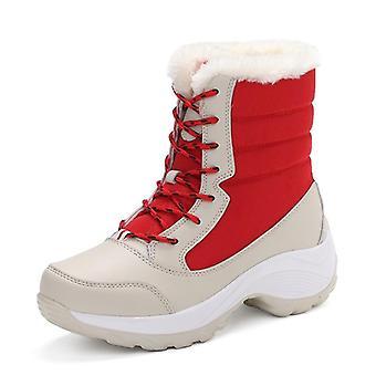 Women Winter Fashion Ankle Keep Warm Lace-up Waterproof Boots