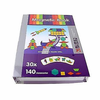 للكتاب المغناطيسي الدماغ لعبة التدريب الإملائي لغز اللعب التعليمية للأطفال هدية عيد الميلاد| الألغاز WS23309