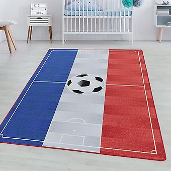 Children's room carpet GAME Short pile children's carpet football France