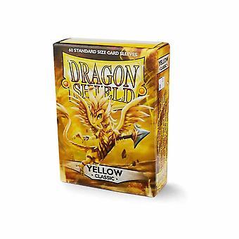 Dragon Shield Japonská velikost Klasické žluté karty rukávy - 60 rukávů