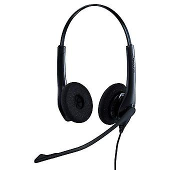 Jabra Biz 1500 Quick Disconnect On-Ear Stereo Headset - Corded Headphone with Noise-cancelling Microphone and Volume Spike Protection for Deskphones, Black