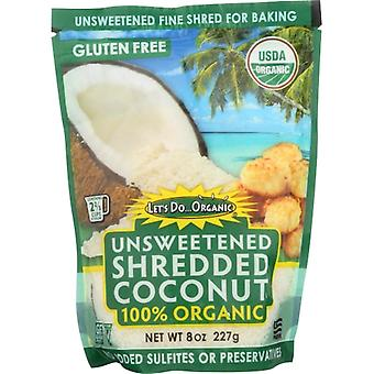 Lets Do Organics Coconut Shred Unswtn Org, Case of 12 X 8 Oz