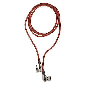 USB A auf USB C Kabel ELBE CA-199 Nylon 1 m Rot USB C
