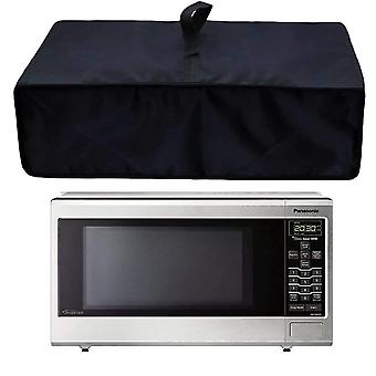 Microwave Oven Cotton Linen Cover Dust Oil Proof With Storage Pockets(50*40*23cm)