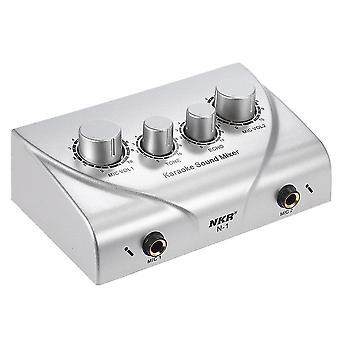 NKR N-1 Karaoke Zvukový systém Echo Mixer Dual Mic Inputs Zesilovač