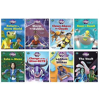 Project X CODE White and Lime Book Bands Oxford Levels 10 and 11 Sky Bubble and Maze Craze Mixed Pack of 8 by Kate ScottAbbie RushtonJanice PimmElen CaldecottGareth P Jones