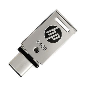 USB 3.1 Metal USB Flash 64GB OTG Type-C  Pendrive for SmartPhone/Tablet/PC, High speed U disk X5000M