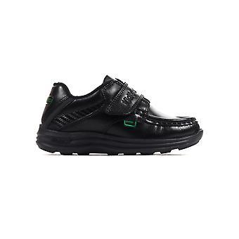Kickers Reasan correa cuero niños infantil zapato negro
