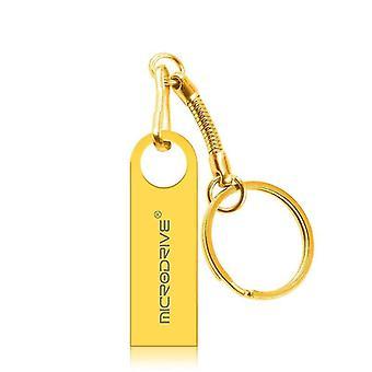 MicroDrive 16GB USB 2.0 Metal vodotěsný vysokorychlostní U Disk (zlato)
