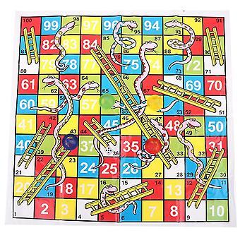 Hot!1set змея лестница развивающие дети игрушки интересные настольные игры набор портативные летающие шахматы доска семейная настольная игра